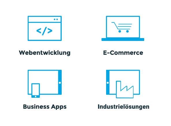 Unsere Leistungen - Webentwicklung, E-Commerce, Business Apps und Gaming Apps