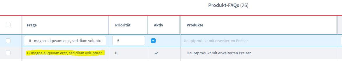 Shopware 6 Plugin FAQs - zusätzliches Tab auf Produktdetailseite